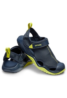 31a108e7220e2 Crocs Men s Swiftwater™ Mesh Deck Sandal Navy Cit RM 269.00. Sizes 7 9