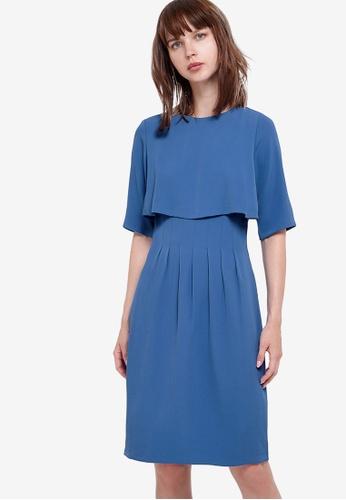 Saturday Club 藍色 Layered短洋裝 EDC23AA0492B8FGS_1