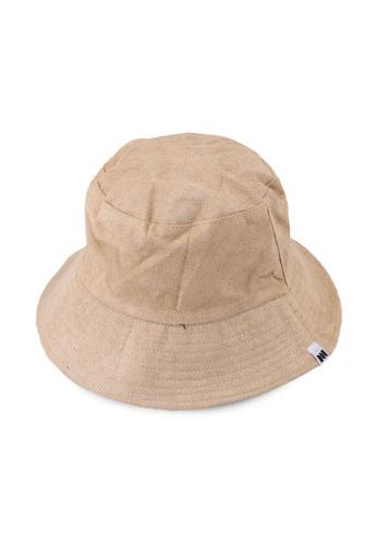 Milliot & Co. beige Tatum Reversible Bucket Hat 4BE91AC8F903C3GS_1