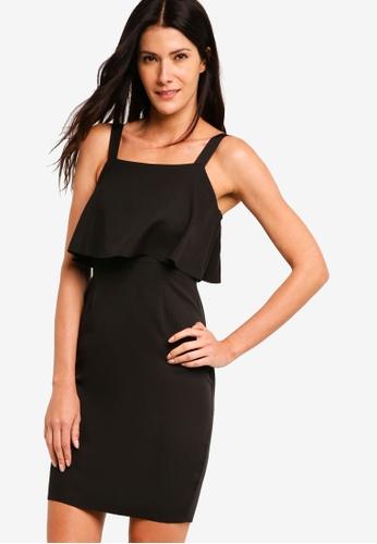 ZALORA black Ruffles Sheath Dress 0F1C1AAED2A3B2GS_1