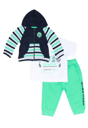Babybol green Baby's 3 Piece Set F4902KA2F53289GS_1