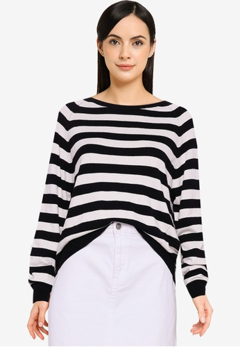 Guess black and white Irene Long Sleeve Sweater 82203AACD55411GS_1