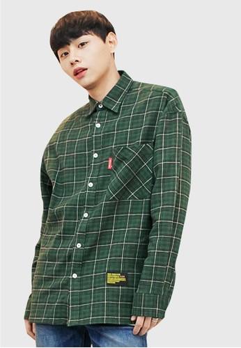 格子圖案寬鬆襯衫, 服飾, 格紋襯esprit台灣網頁衫