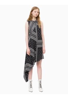 c95e6612fd Calvin Klein black Calvin Klein Asymmetric Bandana Dress 21FE9AA1337685GS 1
