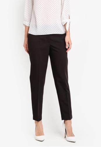 ff9d67224 Dorothy Perkins black Split Hem Ankle Grazer Trousers DO816AA0ST17MY_1