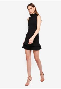 4469d12b0d8ec 5% OFF Boohoo Sleeveless Ruffle Hem Bodycon Dress RM 109.00 NOW RM 103.90  Sizes 6 8 10 12 14