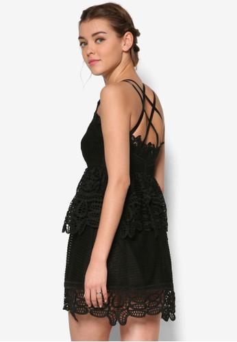 Waldorf 蕾絲多帶及膝洋裝、 服飾、 洋裝MeganeWaldorf蕾絲多帶及膝洋裝最新折價