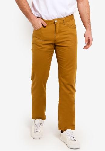 OVS 藍色 5 口袋休閒長褲 B9168AAD10EBC7GS_1