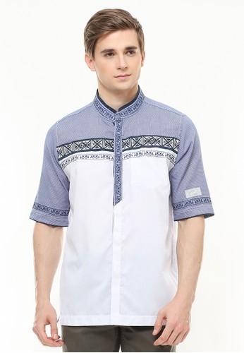 LGS white LGS - Regular Fit - Baju Koko - Motif Bordir - Two Tone Color - Putih 75C38AA88DEC68GS_1