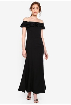 d48e10b323fe 13% OFF Preen & Proper Off Shoulder Ruffle Mermaid Dress S$ 106.90 NOW S$  92.90 Sizes XS S M L XL