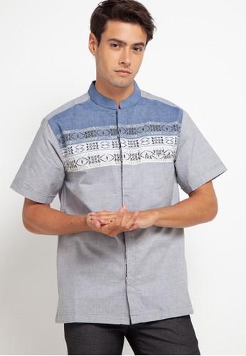 Introspect clothing navy Kemeja Koko B9F41AAA051642GS_1