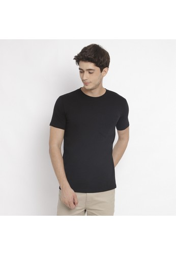 PAULMAY black PAULMAY Basic T-Shirt Pria Slim Fit - Kaos Polos Pria Slim Fit - Black 4A580AA657E1EBGS_1