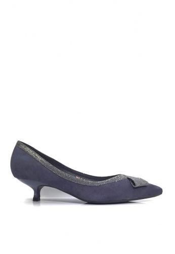 Twenty Eight Shoes 藍色 華麗蝴蝶結小幼跟鞋 VL2955 7929FSH6BFF87BGS_1