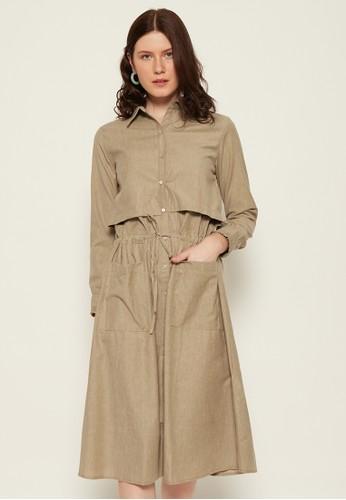 Shiny brown Shiny Ovin Dress 54-5206 CDE6FAAF72A792GS_1