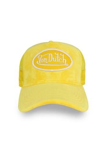 Von Dutch yellow Von Dutch Lemon Velvet Trucker Cap 54066AC0CE9F2DGS_1