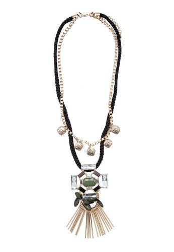 捕夢網綠石項鍊, 飾品zalora 包包 ptt配件, 項鍊