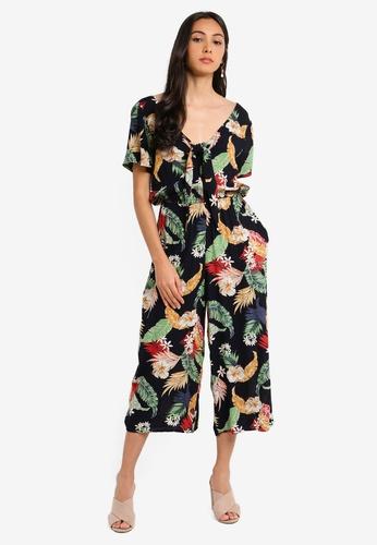 3a7554a9244 Dorothy Perkins navy Multi Colour Tropical Floral Print Jumpsuit  F4A0FAA3D77B84GS_1