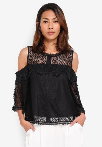 21d04437ed8af Buy KLEEaisons Cold Shoulder Lace Blouse