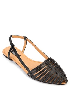 Jamie Pointed Toe Strappy Flat Sandals