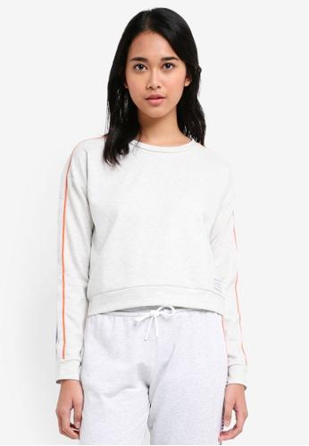 Jack Wills white Hazelgrove Cropped Sweatshirt 3F2E3AAC64E5CDGS_1