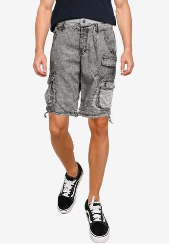 Brave Soul 灰色 Wash Cargo Shorts A9069AAD63DB9DGS_1