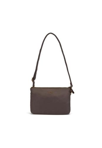 Pacsafe brown Pacsafe Stylesafe Anti-Theft Double Zip Crossbody Bag (Mocha) 578CAAC83C2DE9GS_1