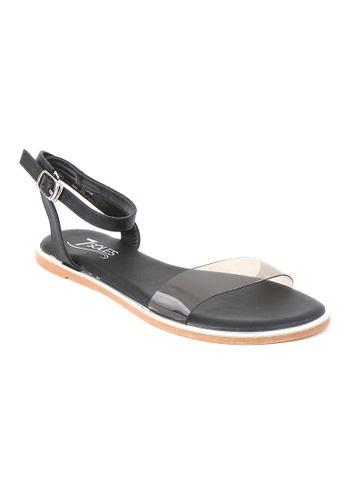 7soles black Chiara Ladies Sandals DDBA3SH0483FBAGS_1