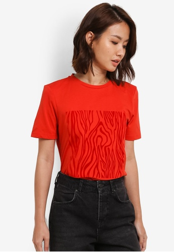 Selected Femme red Zelma Tee SE157AA0S5R9MY_1