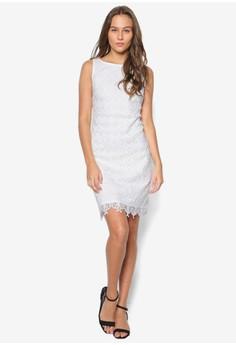 Petite Ivory Lace Shift Dress