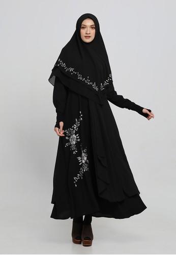 Anggiasari Mawardi black Nayla Embroidery Dress Syar'i Black 6D1E3AA037325FGS_1