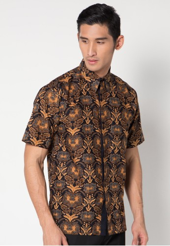 Batik Indra Loka Short Sleeve Black Coffee