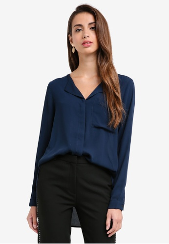 Selected Femme navy Dynella Shirt 2C5A8AAD8F5FB4GS_1