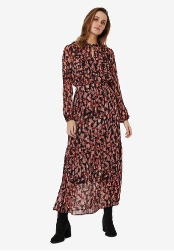 Vero Moda black Mally Long Sleeves Maxi Dress 3C025AAD856106GS_1