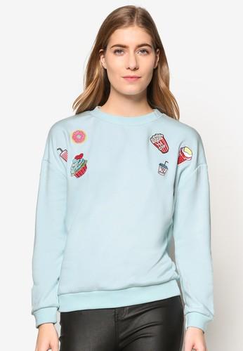 零食刺繡拼圖長袖衫、 服飾、 外套SomethingBorrowed零食刺繡拼圖長袖衫最新折價