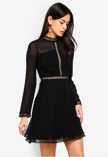 Bardot black Cherie Dobby Dress A254FAA403AEFFGS_1