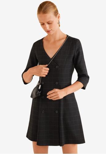 Mango black Double-Breasted Dress 6F9BDAAACF26D0GS_1