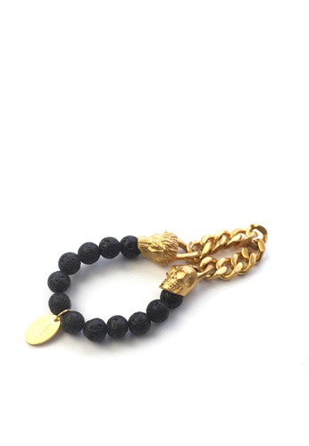 Gnome and Bow gold Lionskull Bracelet E1A95ACED45650GS_1