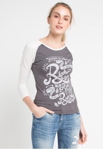 MEIJI-JOY multi Print Success Is Simple long sleeve Tshirt 76169AABBEC031GS_1