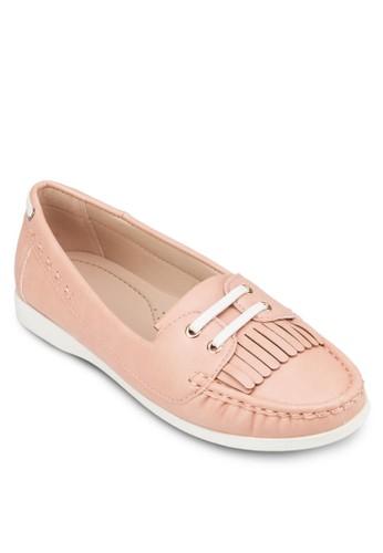 流蘇繫帶莫卡辛鞋, 女鞋, zalora退貨船型鞋