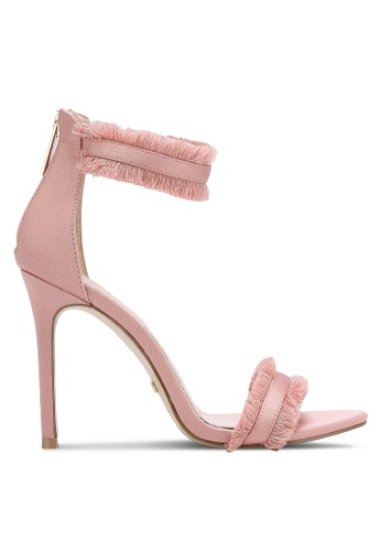 TOPSHOP pink Riley Fringe Heels TO412SH0RCFZMY_1