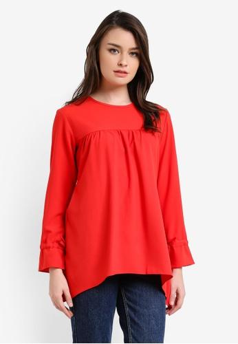 Aqeela Muslimah Wear red Empire Waist Top AQ371AA0RT8NMY_1