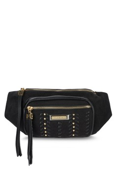 Black Whipstitch Bumbag