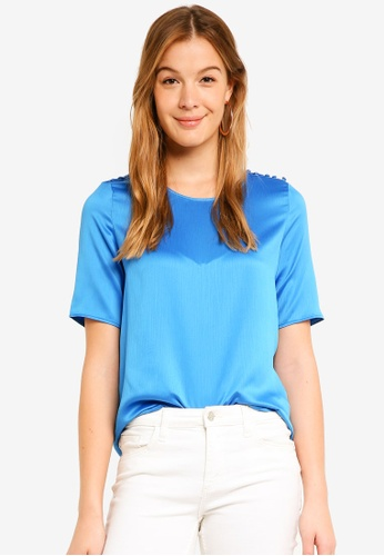 Vero Moda blue Linea 2/4 Top 01F16AA0B96213GS_1