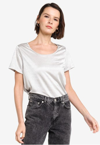 Banana Republic grey Short Sleeves Essential Elevated Tee 3A149AAEE86D4AGS_1