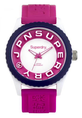 Superdry pink Superdry Tokyo White and Pink Silicone Watch AB0C1AC0811915GS_1