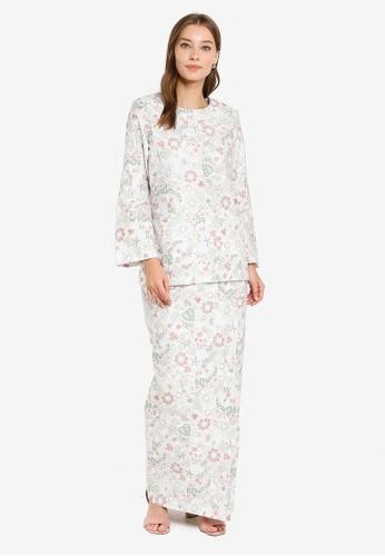 Butik Sireh Pinang white Baju Kurung Kedah Maria 55F38AA0CB145CGS_1