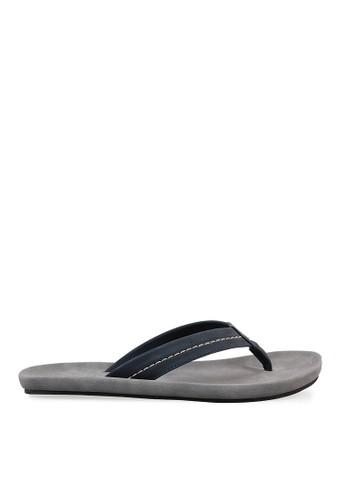 Minarno blue Blue Faux Leather Sandals 001 MI641SH82PDDID_1