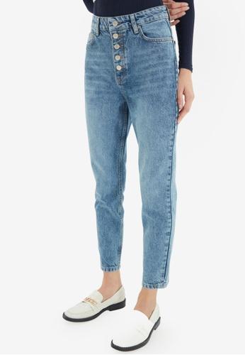 Trendyol blue High Waist Mom Jeans 6CEF0AABDE11EDGS_1