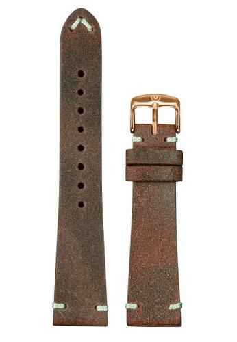 Undone brown Undone Vintage Brown Calf Leather Strap 20mm (Rose Gold Buckle) UN712AC2VEKMHK_1