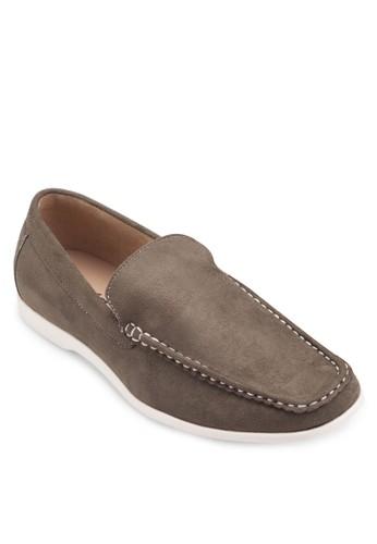 XYVEN 麂皮方頭懶人鞋, 鞋, 懶zalora 心得人鞋